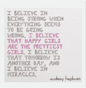 Motivational Quote by Audrey Hepburn Motivational Wallpaper With Quote ...