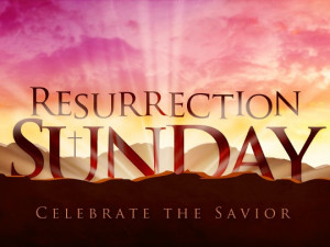 ... and that through the resurrection death has been defeated sometimes
