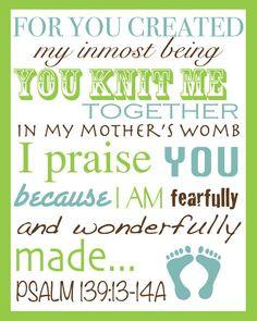 Baby Wall Art Print Bible Quote, Children Scripture Art, Typography ...