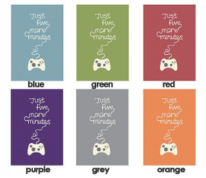 Gaming quote Illustration print xbox poster choice by BearAndRobot