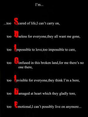 Suicide Quotes And Poems Suicide quotes and poems