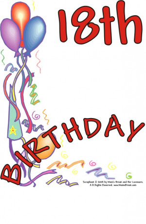 18th birthday sayings 18th birthday quotes funny happy 18th birthday ...