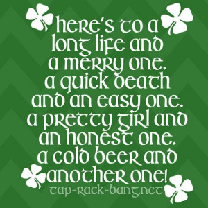 Irish Drinking Toast St. Patrick's Day Shirt by TapRackBangNet