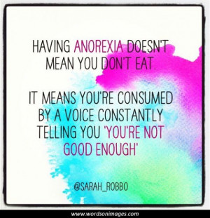 Inspirational Quotes About Anorexia