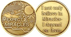 Expect Miracles Affirmation Coin/Medallion