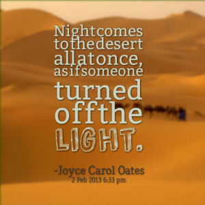 Quotes About Desert