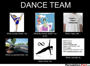 DANCE TEAM What society thinks I do What My friends WANT me to do ...