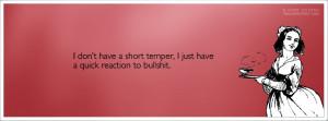 God Shook His Head Quote I Dont Have A Short Temper