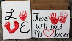 Handprint Art | Valentine's Day Handprint & Footprint Art