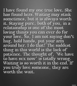 Worth the wait. Always. #love #quotes #purity #waitingPurity Wait ...