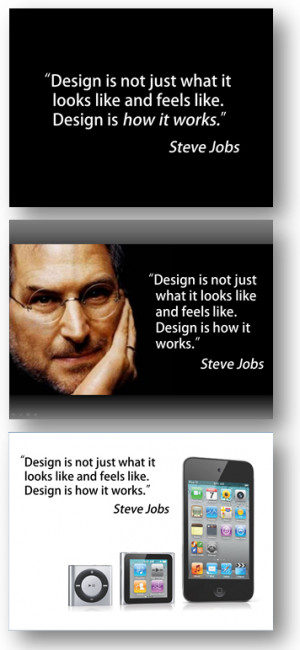 Here you see three versions of the same quote using different ...