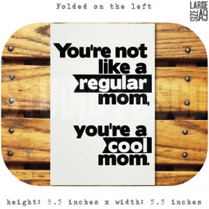 Mean Girls Mother's Day Quote Card/Cool Mom Card/Color Options/A9/8 ...