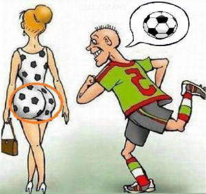 Funny Cartoon: Footballer