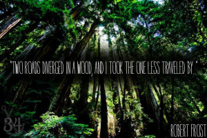 """Robert Frost – """"Two Roads Diverged in a Wood, and I Took the ..."""