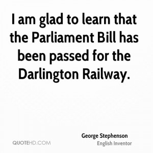 am glad to learn that the Parliament Bill has been passed for the ...