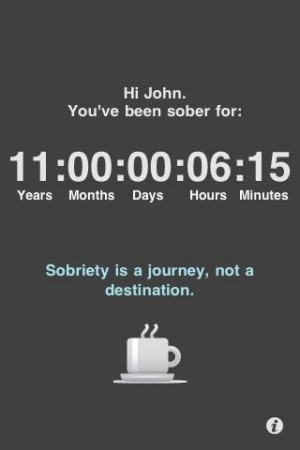 Sobriety day counter; there are multiple smart phone apps for sobriety ...