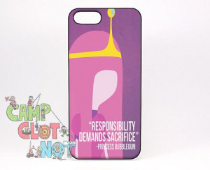 Princess Bubblegum Quotes Cover fits iPhone 5 by CampClotNot, $5.00