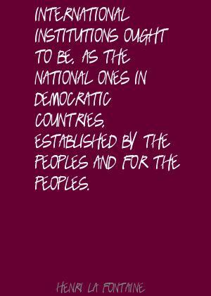 Henri La Fontaine Famous Quotes