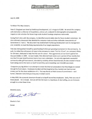 employment reference letter of recommendation