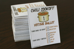 cute voting ballots to match check out our chili cookoff voting ...