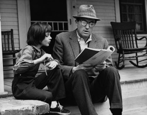 Mary Badham and Gregory Peck Reading Script Set Portrait