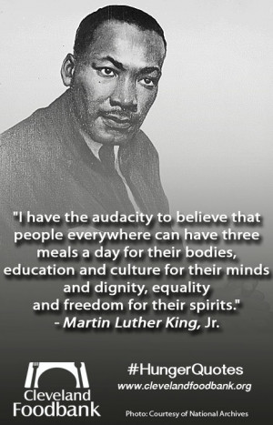 Martin Luther King Jr. quote Help us #endhunger in Prince William ...