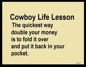 Cowboy Life Lesson