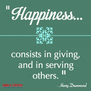 ... giving, and in #serving others.