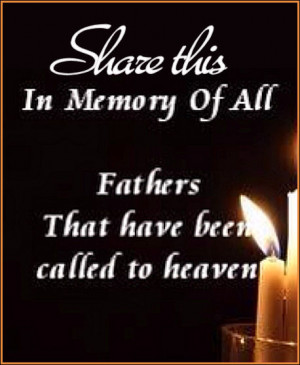 In memory of fathers in heaven