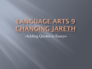 Language Arts Quotes Essay quotes.pptx - language