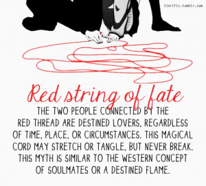 destined, destiny, love, soul mate, red string of fate