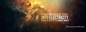 Haters Quote Nikola Tesla Facebook Covers