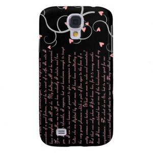 Pride and Prejudice Quotes Case Galaxy S4 Cover