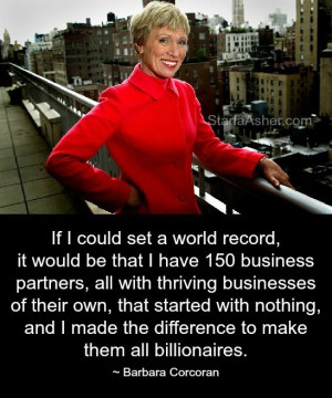 BarbaraCorcoran Barbara Corcoran Quotes http://StarlaAsher.com/Social ...