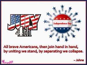 All brave Americans, then join hand in hand, by uniting we stand, by ...