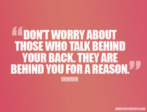 Quotes About People Talking Behind Your Back
