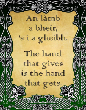 Irish Love Quotes Gaelic