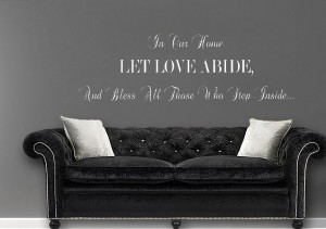 ... Quotes Wall Stickers / In Our Home Let Love Abide Quotes Adhesive Wall