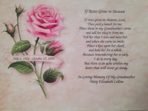 Happy Birthday Grandma In Heaven Poem Happy birthday grandma in