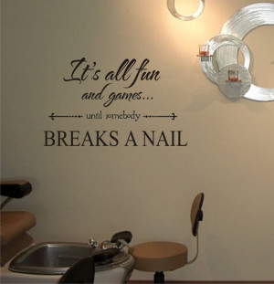... Nails Salons, Salons Ideas, Pedicure Room, Vinyl Wall Art, Funny