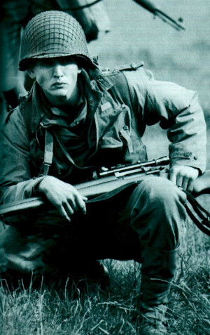 Barry Pepper in Saving Private Ryan.