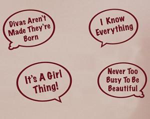 Diva Tones - Fun Diva Quotes Vinyl Wall Decal ...