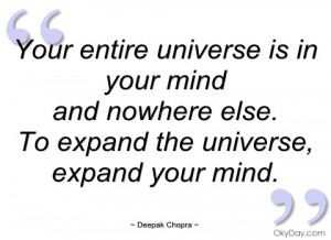 your entire universe is in your mind deepak chopra