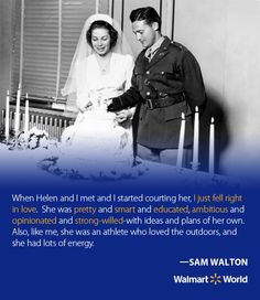 Sam and Helen Walton were married on Valentine's Day. More