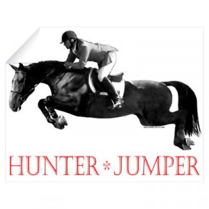 Hunter, Jumper Horse In Red Wall Decal