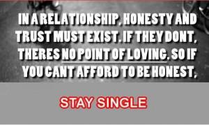 Trust honesty love quotes