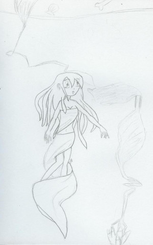 Beowulf Grendel Mother Drawing