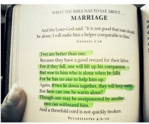 Bible verse for wedding / marriage