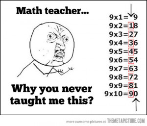 Why you never taught me this