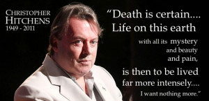 Christopher Hitchens' widow on his death: